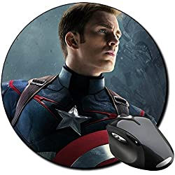 Capitan America Captain America Chris Evans D Alfombrilla Redonda Round Mousepad PC