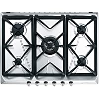 Smeg SRV576GH5 Integrado Encimera de gas Acero inoxidable hobs - Placa (Integrado, Encimera de gas, Acero inoxidable, 1050 W, 1650 W, 2550 W)