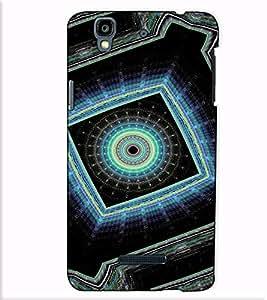 Fuson Designer Back Case Cover for YU Yureka Plus :: Yu Yureka PlusYU5510A (Blue and black designer work)