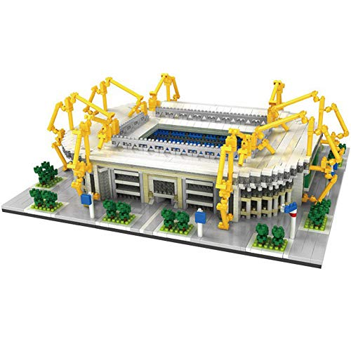 Sportstadion 3D-Modell, Dortmund Signal Iduna Park Stadion Modell Souvenir DIY Kunststoff-Gebäudemodell (3800), Geschenkset, 11