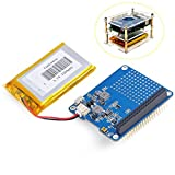 MakerHawk Raspi UPS Hat Board für Raspberry Pi 3 Modell B Pi 2B B + A + und 2500mAh Lithium Akku
