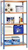 SimonRack SI390 Kit Estantería con 5 Estantes, Azul, Plata 1800 x 800 x 300 mm