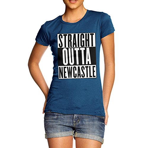 Damen Straight Outta Newcastle T-Shirt Königsblau