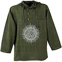 Vishes Kapuzenshirt Sweater Ethno Hoodie Hoody Goa Shirt Hippie Hemd Männerhemd