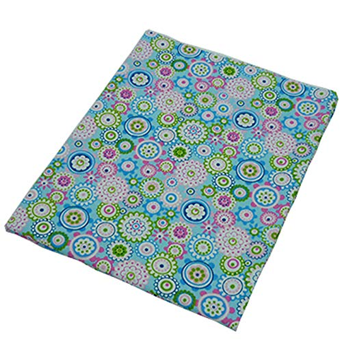 50 cm * 160 cm color azul Colorful Floral Impreso