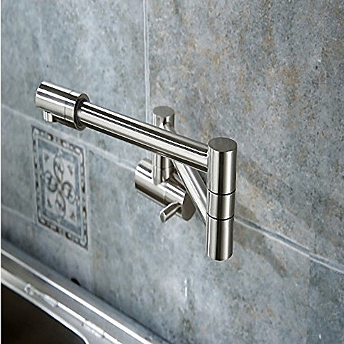 HONGLONG Il lavandino del bagno rubinetto montato a parete Pot Filler con doppia rotazione congiunta nichel spazzolato vasca da bagno