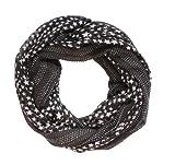 Sterne Loop Schal (schwarz weiß)