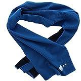 XiRRiX–Sport Fitness asciugamano con Cool effetto termica–raffreddamento in un attimo–100x 30cm–nero/blu