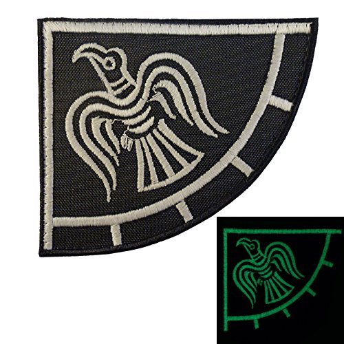 g Raven Banner Odin God of War Embroidered Touch Fastener Aufnäher Patch ()