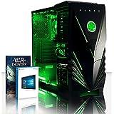 VIBOX Vision 2W Gaming PC - 3,9GHz CPU 2-Core AMD, Ordenador de sobremesa para oficina Gaming vale de juego, con unidad central, Windows10, Iluminaciàninterna verde (3,7GHz (3,9GHz Turbo) Procesador CPU Dual 2-Core AMD A4 6300, 8 GB Memoria RAM de DDR3, velocidad de RAM: 1600MHz, 1TB(1000GB)SataIII7200 rpmdiscoduroHDD, Fuente de alimentaciàn de 85 +PSU 400W, Predator de ViboxLEDverdecaja, DVD-RW)