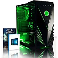 VIBOX Standard 3X Gaming PC Computer with War Thunder Game Voucher, Windows 10 OS (3.8GHz AMD A8 Quad-Core Processor, Radeon R7 Graphics Chip, 8GB DDR3 1600MHz RAM, 2TB HDD)