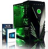 Vibox VBX-PC-5383 Ultra 11XLW Gaming Desktop-PC (AMD A Series A8-7600, 32GB RAM, 2TB HDD, AMD Radeon R7, Win 10 Home) grün