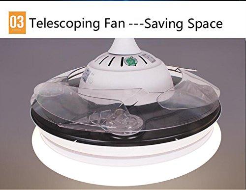 Plafoniere Con Altoparlanti : Horevo ventilatore da soffitto moderno a pale retrattili con luce