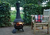 Esschert FF108 121 x 42 x 42cm Cast-Iron Terrace Heater with Mesh Around - Black
