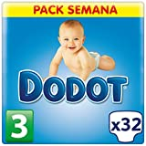 Dodot - Pañales para niños de 4-10 kg, talla 3, 32 unidades