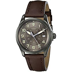 Swiss Army Mens Infantry Vintage Automatic - Espresso Dial - Brown Leather Strap
