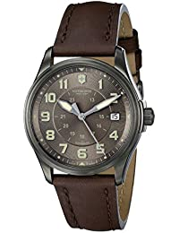 Swiss Army Infantry Vintage Automatic PVD Stainless Steel GMT Mens Strap Watch Brown Dial 241519