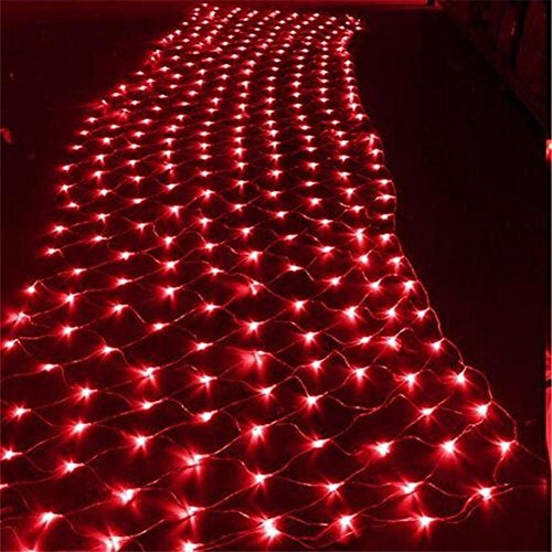 LUCKY CLOVER-A Christmas LED String Lights net Lights 9,8 ft x 6.5 ft 200 Fairy String Light Xmas Tree Wedding Home Garden Xmas Party Valentine Decor Night Light (multicolor) , (Valentine Outdoor Dekorationen)
