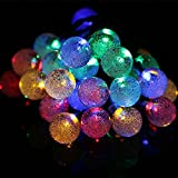 Guizen Solar Lichterketten, 21ft/6.5M Outdoor wasserdicht LED String Lights,30LED Kristallkugel Solar Leuchten für Garten, Hof, Heim, Hochzeit, Geburtstag, Landschaft, Christmas, Party(Multicoloured)
