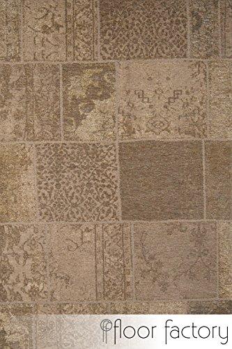 Moderner-Teppich-Vintage-beige-aktueller-Flachgewebe-Teppich-im-Patchwork-Stil