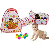 Kids Ball Pool, Ball House Hideaway Pop-Up Play Tent Cubby House - Outdoor Play Tent Pit Ball Pool and Children Indoor Outdoor (Single Ball Pool 40Inch)