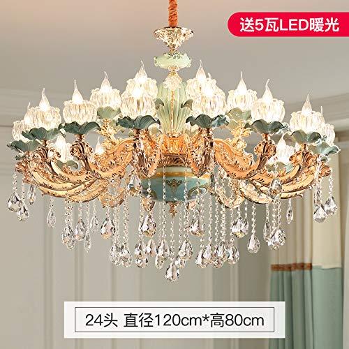 Lampadario in stile europeo in ceramica soggiorno in cristallo lampada ristorante camera da letto lampada moderna casa duplex edificio di lusso francese lampadario