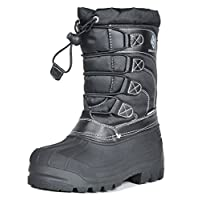 DREAM PAIRS Boys & Girls Toddler/Little Kid/Big Kid KNORTH Insulated Winter Waterproof Snow Boots