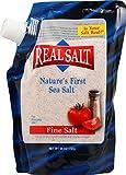 Real Salt - primera de mar sal fina sal de la naturaleza - 26 oz.