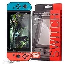 Orzly Glass Screenprotectors compatibel met Nintendo Switch - Premium Screenprotector van gehard glas TWIN PACK [2x Screenprotectors - 0,24 mm] voor 6,2-inch Tabletscherm op Nintendo Switch-Console (2017)