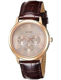 Guess W0496G1 - Reloj con correa de piel para hombre, color beige / marrón