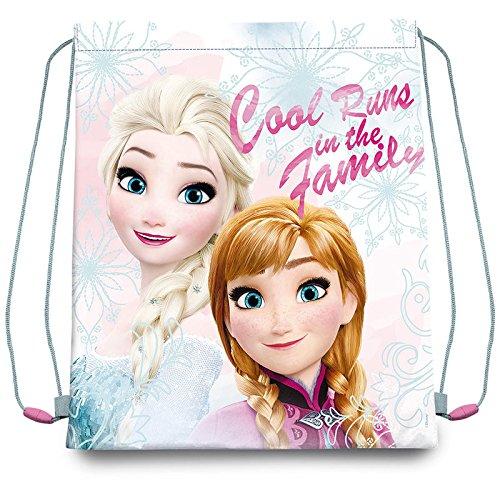 Disney Frozen WD17753 Sacca A Zaino, 41 Centimetri, Bambina, Multicolore, Elsa, Anna