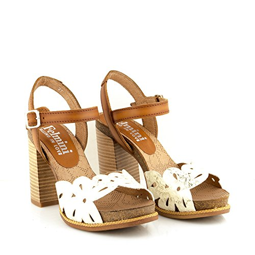 Felmini - Scarpe Donna - Innamorarsi com Epsilon A074 - Sandali - In Pelle Genuina - Multicolore Multicolore