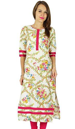 Phagun Bollywood Kurta indische Designer Frauen Ethnische Kurti Tunika-Kleid -
