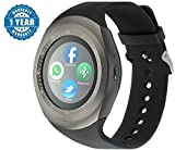 Olectra Y1 BLuetooth Smartwatch with SIM Support, Facebook, Whatsapp, Wechat, Pedometer, StepsCount, Twitter for Smartphones(Black)