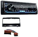 caraudio24 JVC KD-X151 1DIN USB Aux MP3 Autoradio für Ford Focus Cougar Escort Fiesta Ablagefach