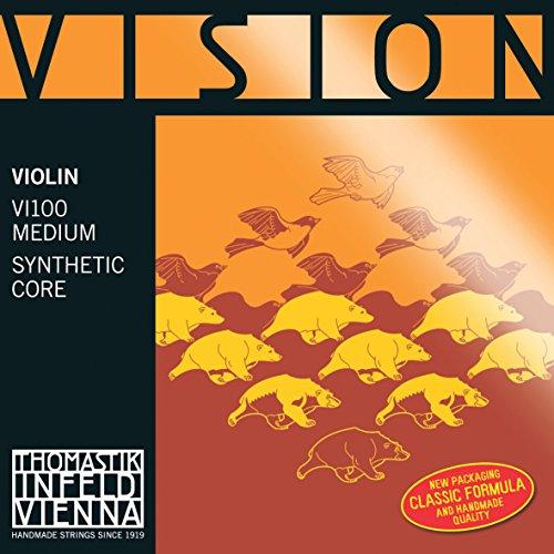Thomastik Einzelsaite für 4/4 Violine Vision - E-Saite Stahl mehrlagig verzinnt, mittel, Kugel abnehmbar (Vision Violine Thomastik Saiten)