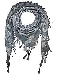 Superfreak® Pañuelo pali de dos colores especial°chal PLO°100x100 cm°Pañuelo palestino Arafat°100% algodón – gris/blanco