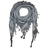 Superfreak® Palituch zweifarbig spezial°PLO Schal°100x100 cm°Pali Palästinenser Arafat Tuch°100% Baumwolle, Farbe: grau/weiss