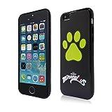 Miraculous mrip501–Carcasa trasera con diseño de gato para iPhone 5se/5/5S 0,7mm negro