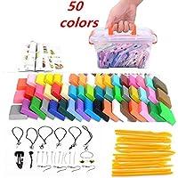 Arcilla de polímero Mytobang 50 colores horno hornear DIY arcilla colorida seguro y no tóxico conjunto de artesanía de moldeo, conjunto de herramientas de escultura conjunto de herramientas de moldeado de modelado mejor regalo para los niños