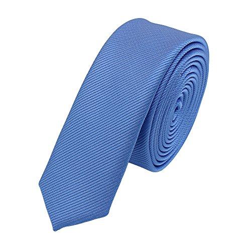 Fabio Farini Schmale, stilvolle Krawatte 3 cm X-Slim in verschiedenen Farben, Hellblau