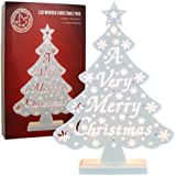 The Benross Christmas Workshop Battery Operated Wooden A Very Merry Christmas Tree Light