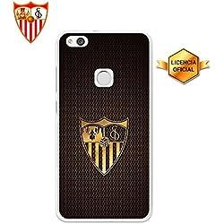 Funda Gel Flexible Sevilla F.C. para Huawei P10 Lite, Carcasa TPU, protege y se adapta a la perfección a tu Smartphone. Licencia oficial Escudo 2.