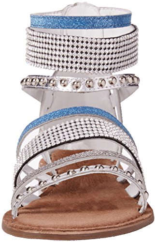 Lotus Wren, Sandales Bride cheville femme Silver (silver Multi)
