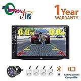 #9: myTVS TAV-40 HD Touch Screen Car Stereo Media Player with Bluetooth/USB/MP5/MP3 +8 LED Reverse Parking Camera+ White Reverse Parking Sensor Kit