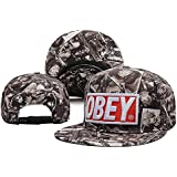Poeta thove Adjustable Obey Snapback Gorra de béisbol for Mr and Ms