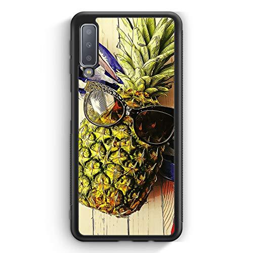 Coole Ananas - Silikon Hülle für Samsung Galaxy A7 (2018) Cover - Motiv Design Mädchen Lustig Witzig Frauen Damen - Handyhülle Schutzhülle Case Schal (Lustige Schals Für Frauen)