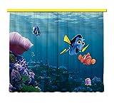 AG Design Tende - Disney Nemo - Tende per Camera Bambini - Stampa Foto 3D - 180 x 160 cm - 2 Parti - FCSXL 4323