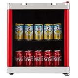 Cookology Red Table Top Drinks Fridge   MBC46RD Glass Door Mini Wine Bottle & Beverage Cooler