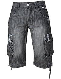 Hommes Crosshatch Joueur 16 Hommes Longueur Genou Jeans Style De Cargo Short